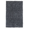"KAS Rugs Bliss 1583 Black Heather Shag 27"" X 45"" Size Area Rug"