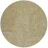 Bliss 1586 Yellow Heather Shag 6' Round Size Area Rug