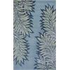 "Bob Mackie Home 1002 Ice Blue Folia 2'6"" x 8' Runner Size Area Rug"