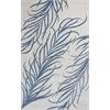 Bob Mackie Home 1010 Ivory/Blue Plume 8' x 11' Size Area Rug
