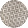 "Bob Mackie Home 1017 Silver/Grey Mirage 7'6"" Round Size Area Rug"