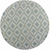 "Bob Mackie Home 1018 Ice Blue Mirage 7'6"" Round Size Area Rug"