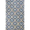 KAS Rugs Bob Mackie Home 1019 Blue Eye Of The Peacock 5' x 8' Size Area Rug