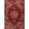 "KAS Rugs Bob Mackie Home Vintage 1300 Burnt Red Medallia 5'3"" x 7'7"" Size Area Rug"
