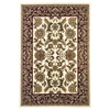 "Cambridge 7303 Ivory/Red Kashan 5'3"" x 7'7"" Size Area Rug"
