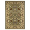 "KAS Rugs Cambridge 7304 Green/Taupe Kashan 2'2"" x 7'11"" Runner Size Area Rug"