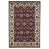 "KAS Rugs Cambridge 7306 Red/Ivory Floral Agra 3'3"" x 4'11"" Size Area Rug"