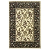 "Cambridge 7310 Ivory/Black Floral Ribbons 5'3"" x 7'7"" Size Area Rug"