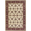 "KAS Rugs Cambridge 7312 Ivory/Red Kashan 2'2"" x 7'11"" Runner Size Area Rug"