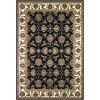 "Cambridge 7313 Black/Ivory Kashan 3'3"" x 4'11"" Size Area Rug"