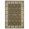 "Cambridge 7314 Green/Ivory Kashan 3'3"" x 4'11"" Size Area Rug"