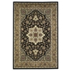 "KAS Rugs Cambridge 7327 Black/Beige Kashan Medallion 20"" x 31"" Size Area Rug"