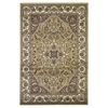 "KAS Rugs Cambridge 7328 Beige/Ivory Kashan Medallion 7'7"" x 10'10"" Size Area Rug"