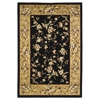 "Cambridge 7336 Black/Beige Floral Delight 5'3"" x 7'7"" Size Area Rug"