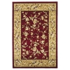 "Cambridge 7337 Red/Beige Floral Delight 3'3"" x 4'11"" Size Area Rug"