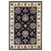 "Cambridge 7339 Black/Ivory Floral Mahal 5'3"" x 7'7"" Size Area Rug"