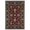"KAS Rugs Cambridge 7342 Red/Black Bijar 9'10"" X 13'2"" Size Area Rug"