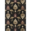 "Cambridge 7366 Black Palazzo 3'3"" x 4'11"" Size Area Rug"