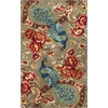 "KAS Rugs Catalina 0732 Sage Peacock Flora 3'3"" x 5'3"" Size Area Rug"