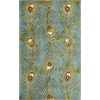 "Catalina 0739 Blue Peacock Feathers 2'6"" x 8' Runner Size Area Rug"