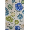 "Catalina 0752 Ivory Floral Oasis 7'9"" x 10'6"" Size Area Rug"