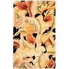 "Catalina 0759 Black Calla Lilies 2'6"" x 8' Runner Size Area Rug"