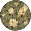 "Catalina 0768 Sage Magnolia 5'6"" Round Size Area Rug"