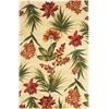 Catalina 0780 Ivory Tropical Flora 5' x 8' Size Area Rug