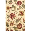 "Catalina 0781 Ivory Mums 30"" x 50"" Size Area Rug"