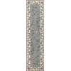 Colonial 1728 Slate Blue /Ivory Floral 2' x 8' Runner Size Area Rug