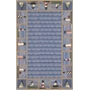 "KAS Rugs Colonial 1802 Blue Lighthouse Waves 3'6"" x 5'6"" Size Area Rug"
