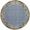 "Colonial 1802 Blue Lighthouse Waves 7'6"" Round Size Area Rug"