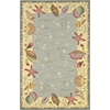 "Colonial 1804 Blue/Ivory Ocean Surprise 5'3"" x 8'3"" Size Area Rug"