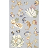 "Colonial 1805 Lt.Blue Ocean Life 3'6"" x 5'6"" Size Area Rug"