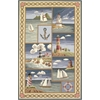 "Colonial 1806 Blue Coastal Views 5'3"" x 8'3"" Size Area Rug"