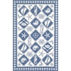 "Colonial 1807 Blue/Ivory Nautical Panel 20"" x 30"" Size Area Rug"
