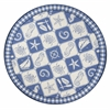 "Colonial 1807 Blue/Ivory Nautical Panel 7'6"" Round Size Area Rug"