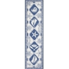 Colonial 1807 Blue/Ivory Nautical Panel 2' x 8' Runner Size Area Rug