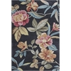 "KAS Rugs Coral 4156 Charcoal Flor 8' x 10'6"" Size Area Rug"