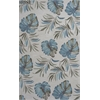 "Coral 4157 Ivory Lanai 5' x 7'6"" Size Area Rug"