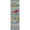 "KAS Rugs Coral 4166 Seafoam Visions 5'6"" Round Size Area Rug"