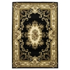 "Corinthian 5310 Black/Ivory Aubusson 2'2"" x 7'11"" Runner Size Area Rug"
