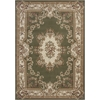 "KAS Rugs Corinthian 5312 Green/Ivory Aubusson 3'3"" x 4'11"" Size Area Rug"