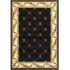 """Corinthian 5321 Black Fleur-De-Lis 5'3"""" x 7'7"""" Size Area Rug"""