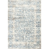 "KAS Rugs Crete 6503 Ivory/Blue Courtyard 7'10"" x 11'2"" Size Area Rug"