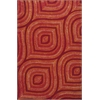 "Donny Osmond Home Escape 7906 Red Raindrops 7'6"" x 9'6"" Size Area Rug"