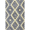 "Donny Osmond Home Escape 7908 Ivory/Blue Dimensions 3'3"" x 5'3"" Size Area Rug"