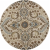 "Donny Osmond Home Harmony 8113 Sand Tapestry 5'6"" Round Size Area Rug"