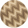 "Donny Osmond Home Timeless 8006 Champagne Chevron 7'7"" Round Size Area Rug"