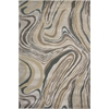 "KAS Rugs Donny Osmond Home Timeless 8010 Silver Wood Grains 7'7"" x 10'10"" Size Area Rug"